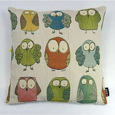 lava Owl Throw Pillow