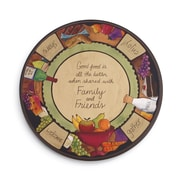 DEMDACO Friends, Family, and Food Lazy Susan