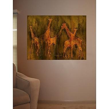 Wallhogs Cavalaris Moods of Africa-Giraffes Poster Wall Mural; 27'' H x 36'' W