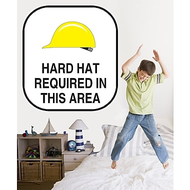 Wallhogs Hard Hat Sign Wall Decal; 48'' H x 48'' W