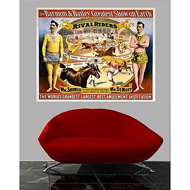 Wallhogs Buell Barnum and Bailey 1895 Rival Riders Poster Wall Mural; 19'' H x 24'' W