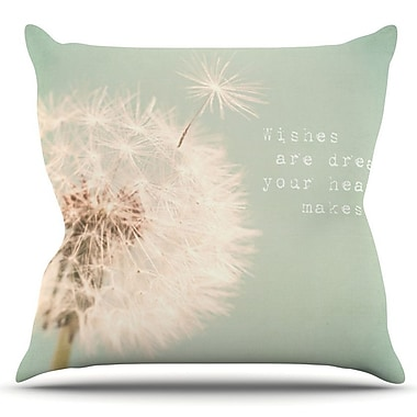 KESS InHouse Wishes Are Dreams by Debbra Obertanec Outdoor Throw Pillow