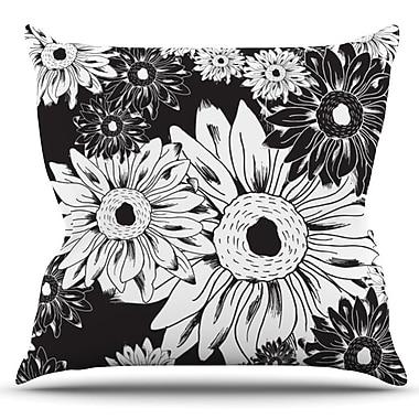 KESS InHouse Midnight Florals by Laura Escalante Outdoor Throw Pillow