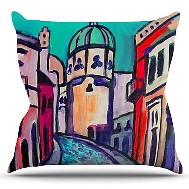 KESS InHouse Procida by Theresa Giolzetti Outdoor Throw Pillow