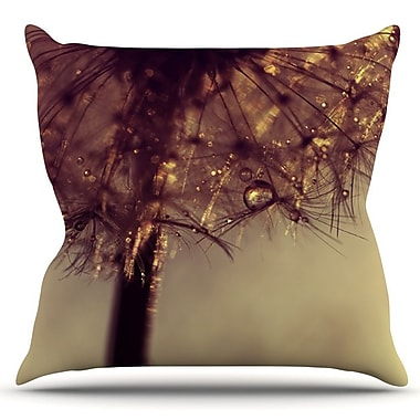 KESS InHouse Droplets of Gold by Ingrid Beddoes Outdoor Throw Pillow