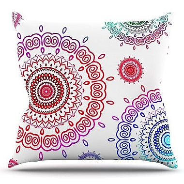 KESS InHouse Rainbow Infinity by Monika Strigel Outdoor Throw Pillow