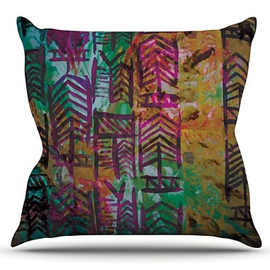 KESS InHouse Quiver by Theresa Giolzetti Outdoor Throw Pillow; Multi