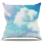 KESS InHouse Paint the Sky! by Alison Coxon Outdoor Throw Pillow
