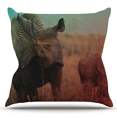 KESS InHouse Abstract Rhino by Danny Ivan Outdoor Throw Pillow
