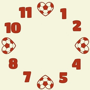 Style and Apply Soccer Wall Clock Wall Decal; Royal Blue