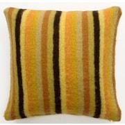 Sabira Mohair Blend Striped Accent Pillow; Yellow/Orange