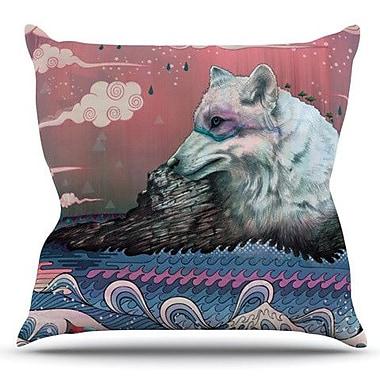 KESS InHouse Lone Wolf by Mat Miller Outdoor Throw Pillow