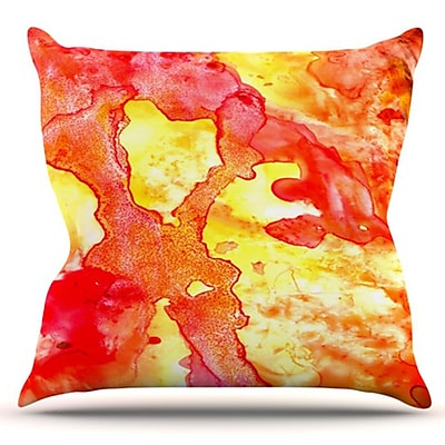 KESS InHouse Hot Hot Hot by Rosie Brown Outdoor Throw Pillow