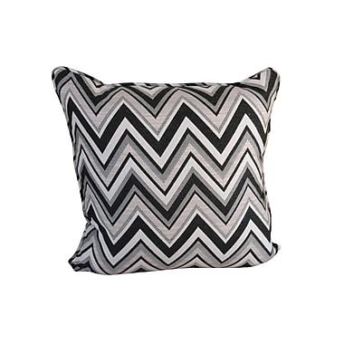 SomersFurniture Poolside Indoor/Outdoor Throw Pillow; Fischer Graphite