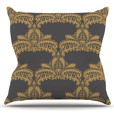 KESS InHouse Decorative Motif by Nandita Singh Outdoor Throw Pillow; Gold