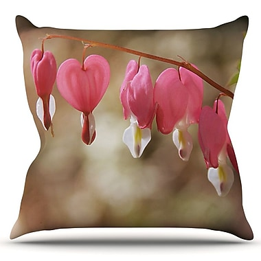 KESS InHouse Bleeding Hearts by Angie Turner Outdoor Throw Pillow