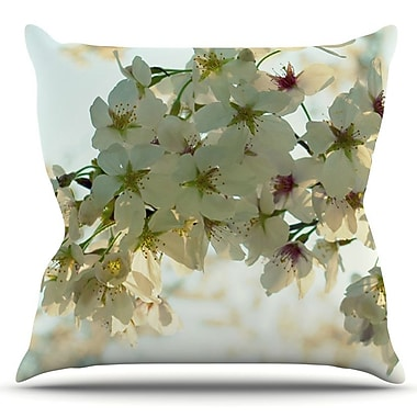 KESS InHouse Cherry Blossoms by Robin Dickinson Outdoor Throw Pillow