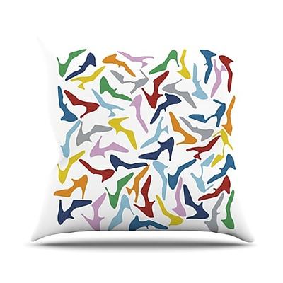 KESS InHouse Shoe Outdoor Throw Pillow; Multi / White