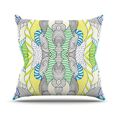KESS InHouse Wormland Outdoor Throw Pillow