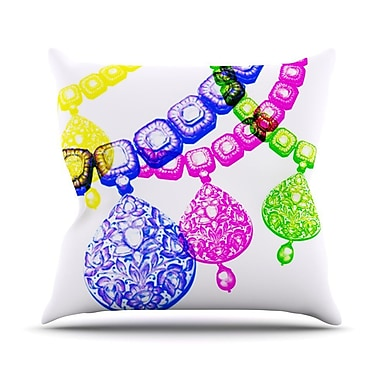 KESS InHouse Precious Outdoor Throw Pillow