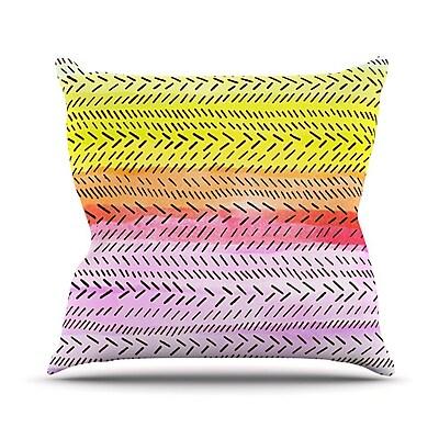KESS InHouse Sunshine Outdoor Throw Pillow