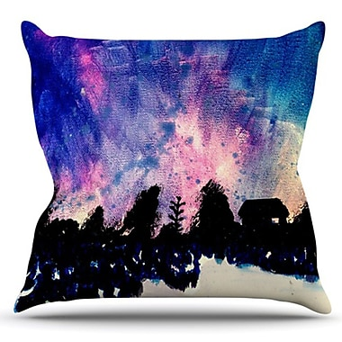 KESS InHouse First Snow by Theresa Giolzetti Outdoor Throw Pillow