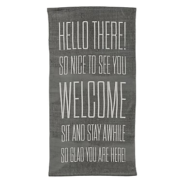 Bloomingville ''Hello There '' Gray Area Rug