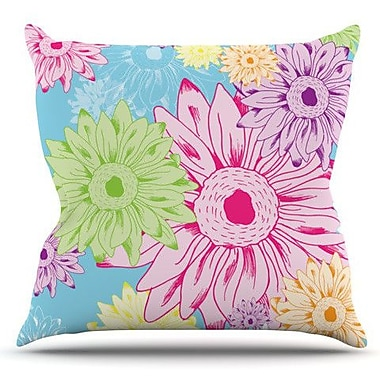 KESS InHouse Summer Time by Laura Escalante Outdoor Throw Pillow
