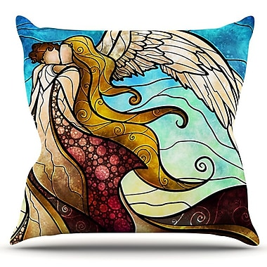 KESS InHouse In the arms of the Angel by Mandie Manzano Outdoor Throw Pillow