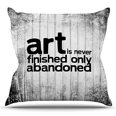 KESS InHouse Art Never Finished by KESS InHouse Outdoor Throw Pillow
