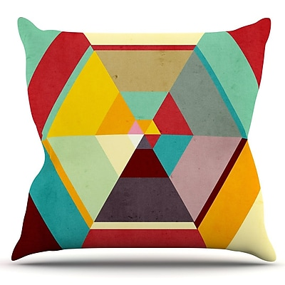 KESS InHouse Color Mess by Danny Ivan Outdoor Throw Pillow