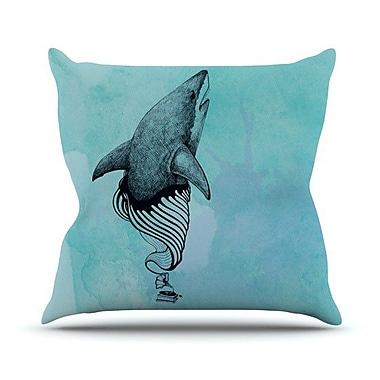 KESS InHouse Shark Record III Outdoor Throw Pillow
