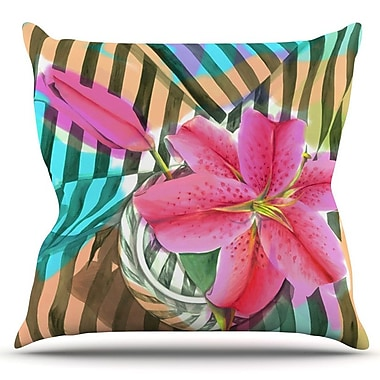 KESS InHouse Lilly n Stripes by S. Seema Z Outdoor Throw Pillow