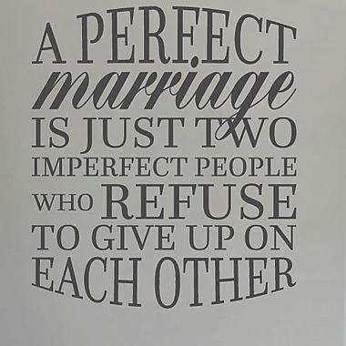 SweetumsWallDecals A Perfect Marriage Wall Decal; Black