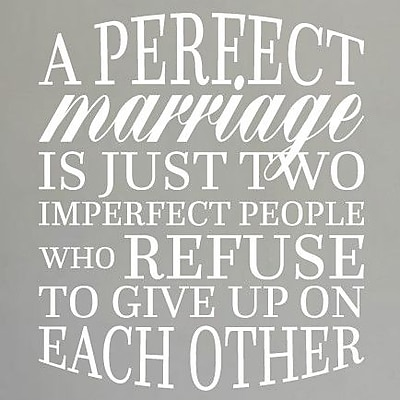 SweetumsWallDecals A Perfect Marriage Wall Decal; White