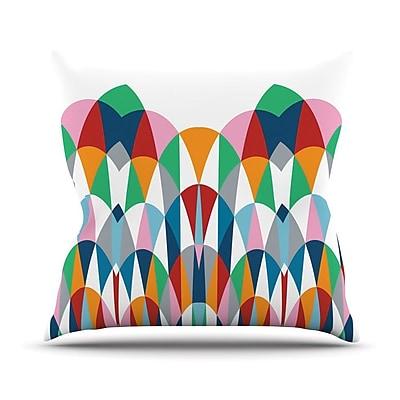 KESS InHouse Modern Day Arches Outdoor Throw Pillow