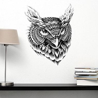 My Wonderful Walls Ornate Owl Head by BioWorkZ Wall Decal; Medium