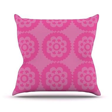 KESS InHouse Moroccan Outdoor Throw Pillow; Pink