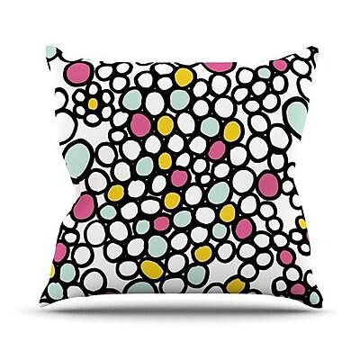 KESS InHouse Pebbles Outdoor Throw Pillow; Pink