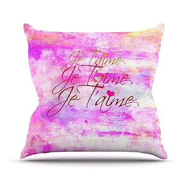 KESS InHouse Je T'aime II Outdoor Throw Pillow