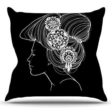 KESS InHouse Organic by Jennie Penny Outdoor Throw Pillow; Black