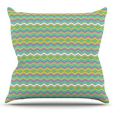KESS InHouse Chevron Love by Nicole Ketchum Outdoor Throw Pillow