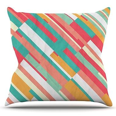 KESS InHouse Droplines by Danny Ivan Outdoor Throw Pillow