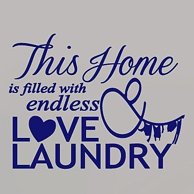 SweetumsWallDecals Endless Love and Laundry Wall Decal; Navy