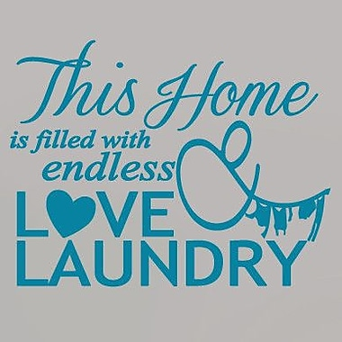 SweetumsWallDecals Endless Love and Laundry Wall Decal; Teal
