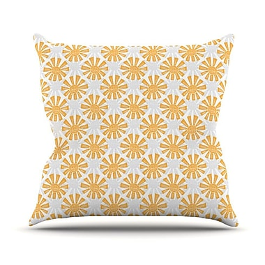 KESS InHouse Sunburst Outdoor Throw Pillow