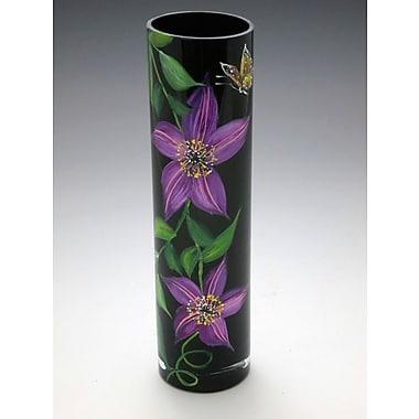 ChristinasHandpainted Midnight Clematis Vase
