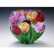 ChristinasHandpainted Spring Tulips Vase
