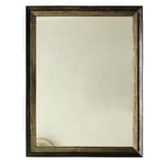 KingwinHomeDecor Framed Wall Mirror; Brozen