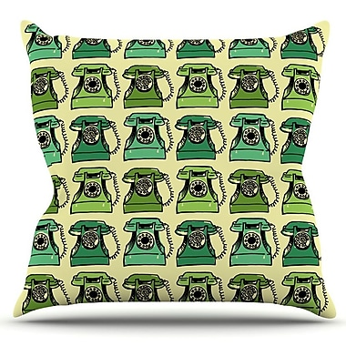 KESS InHouse Grandma's Telephone by Holly Helgeson Outdoor Throw Pillow